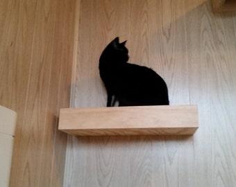 Floating Wood Cat Shelf, carpet cat toy, home decor, pet supplies, pet beds,pet shelfs
