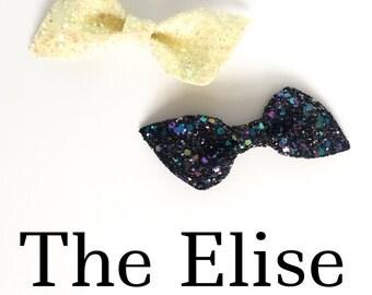The Elise // Glitter twist bow