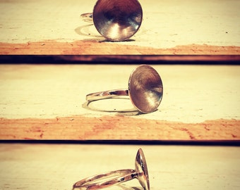 Sterling silver crater ring