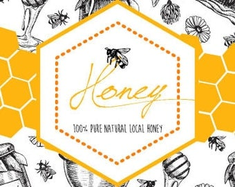 Honey label | Etsy