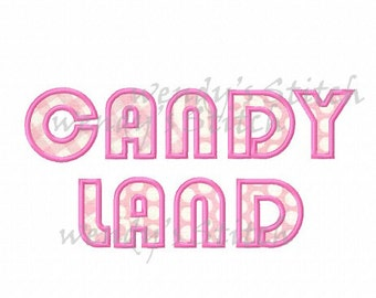 candy land applique machine embroidery design instant download