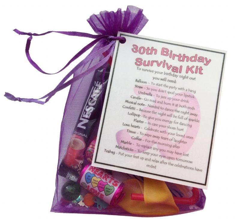 Unique Novelty Survival Kit: 30th Birthday Survival Kit 30th Gift Gift For By SmileGiftsUK