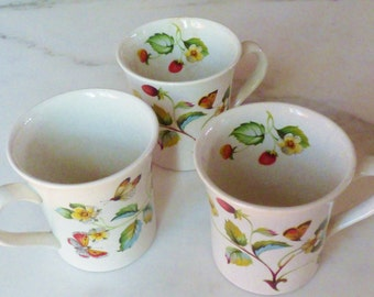 Vintage Old Foley Strawberry Cups