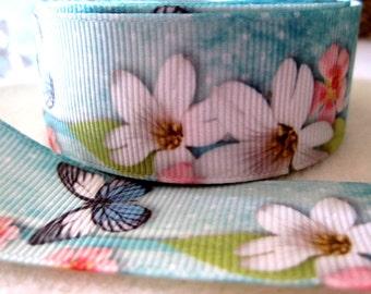 1'' -  25 mm Butterfly Grosgrain Ribbon