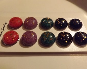 18MM Snaps/Beads with Gold Flakes