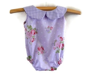 Baby romper - romper - infant romper - baby clothes - baby girl - newborn - vintage style romper - toddler clothes - baby - baby shower gift