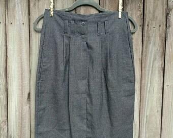 High-waist Stravagance Skirt (5/6). High-waist Skirt. Front-button Skirt. Vintage Skirt.