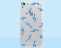 Dolphin iPhone Case - Watercolor Summer Design For iPhone 6 Plus, iPhone 6s, iPhone SE, iPhone 5, iPhone 5c & More! Clear Case with Design