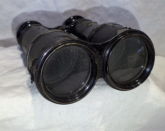 French Binoculars, Antique CHEVALIER Paris, Vintage Optical Salvage