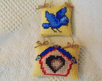 Bluebird Decor, Birdhouse Decor, Bird Wall Art, Spring Bluebird, Baby Gift, Baby Shower Gift, Spring Decor, Mother's Day Gift, Birthday Gift