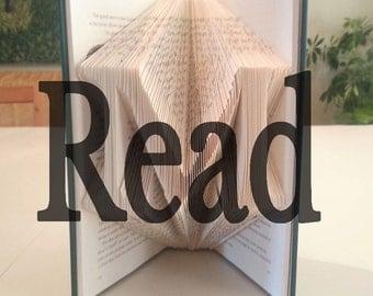 "Book Folding Template: ""Read"" by DIYMarta"