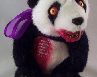 Creepy Cute Plush Zombie Panda Bear
