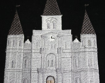 St Louis Catherdral filled embroidery design