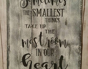 """Sometimes the smallest things up most of our time.  Approx. 16.5 x 24"""" hand painted"""