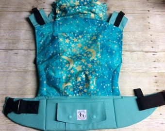 "Ready to Ship - Juicy Ann Soft Structured Baby Carrier SSC: ""Constellation"" Mash Up"