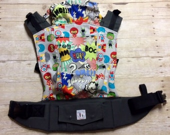 "Ready to Ship - Juicy Ann Soft Structured Baby Carrier SSC: ""Bam Boy"" Mash Up"