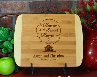 Personalized Cutting Board Home Sweet Home Housewarming Gift Wooden Chopping Block Wedding Gift Kitchen Art Hostess Gift New Home Gift