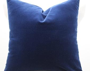 Robert Allen cotton velvet pillow cover,throw pillow,decorative pillow,accent pillow,lumbar pillow,same fabric front and back.