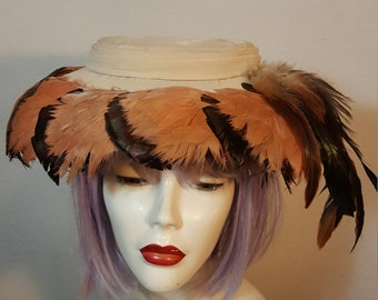 FREE  SHIPPING  1950  Saucer  Hat