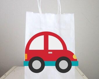 Car Goody Bags, Car Favor Bags, Car Gift Bags, Car Birthday, Car Party Bags