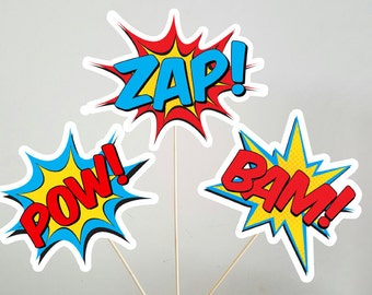 Superhero Centerpiece, Superhero Burst Centerpieces