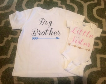 Big brother & Little sister matching shirts // sibling matching shirts