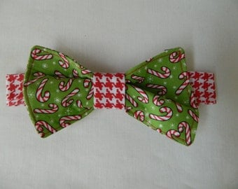 Christmas Candy Cane Dog Bow Tie
