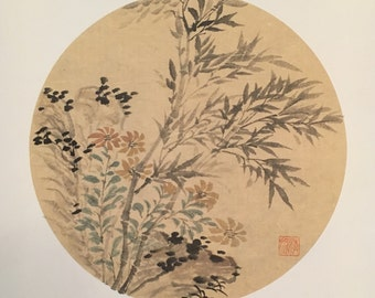 China hand-painted flower painting
