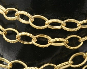 1 mt 3.3  feet 7 x 4 mm gold plated metal link Chain 1324G