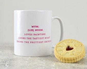 Personalised definition mug for Mum