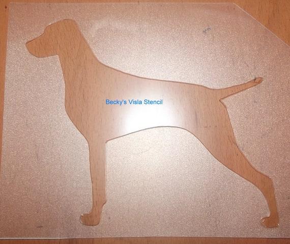 Puppy Bows ~ Vizsla Weimaraner or Rhodesian Ridgeback dog breed plastic craft stencil