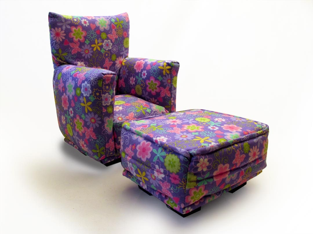 Living Room Chairs With Ottoman Barbie Doll Living Room Chair Ottoman Lavender Multi Color