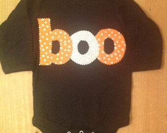 ON SALE Boo Halloween Shirt or Baby Bodysuit