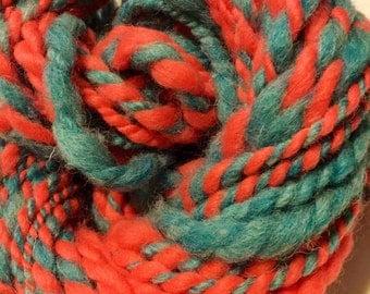 handspun art yarn - think and thin art yarn - art yarn - bulky yarn -  yarn - handspun yarn