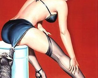 Vintage 1950's Pin Up Poster 34 A3/A2 Print
