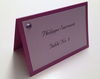 Place Cards, Place Seating Cards, Purple Place Cards, Custom Place Cards, Personalized Place Cards