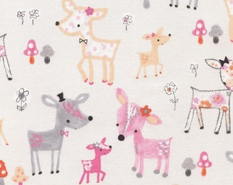 Pastel Deer, Flora & Fawn, from Timeless Treasures