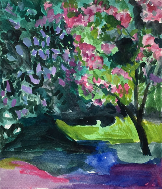 Lilac and Cherry Trees