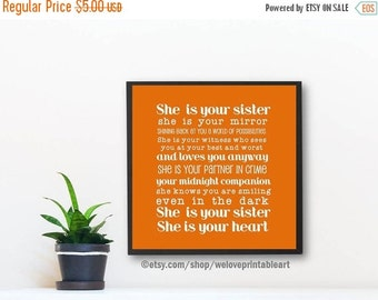 60% OFF SALE 12x12, Gifts for Sister, Big Sister Gift, Sister Quote Poster, Gift Ideas for Sister, Christmas Gift Ideas, Unique Gift, Printa