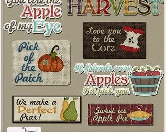 Fall Pickings Digital Word Art