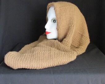Hooded  alpaca cowl