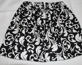 Black and White Girls Skirt Twirl Skirt Size 6