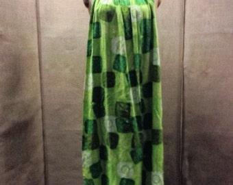 Green Hawaiian Resort Wear Dress Size 14 (UK) Size 10 (USA)