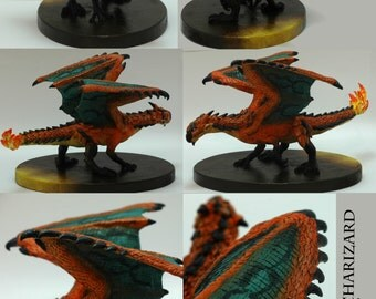 Charizard/Rathalos OOAK sculpture