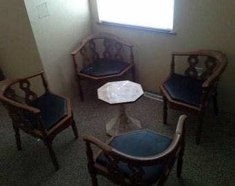 Thomasville Furniture corner chair Mid Century Set of 4