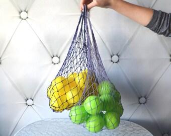 SALE 10% Set of 2 String Basket Tote Bag, Reusable shopping bag, Avoska Soviet Era, string bag, fishnet bag, beach bag, farmers market bag