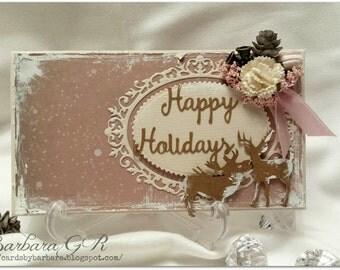 OOAK  Christmas envelope card