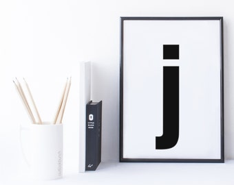 Quote Print and/or Frame - Letter 'j'