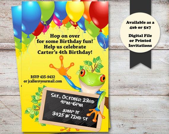 Tree frog birthday invitations frog party invitations tree frog il570xn filmwisefo