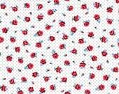 Everything But The Kitchen Sink XII 2016 - Pin Dot Posies(Red) - Yuko Hasegawa - RJR Fabrics